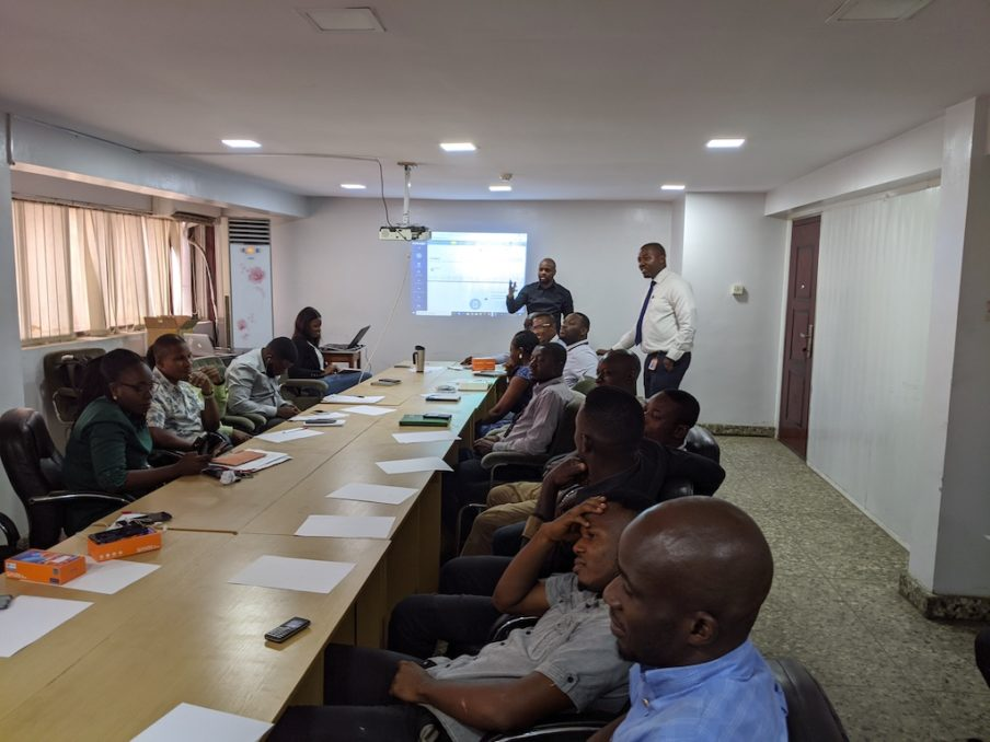 Ore Omolaja at a sales training